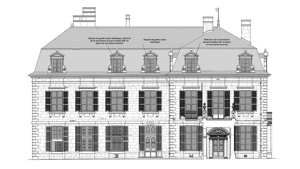 Restauration de la toiture du Grand Pavillon